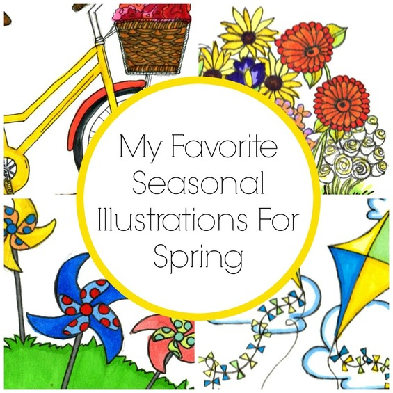 My Favorite Seasonal Illustrations For Spring Rachel Antonia Designs