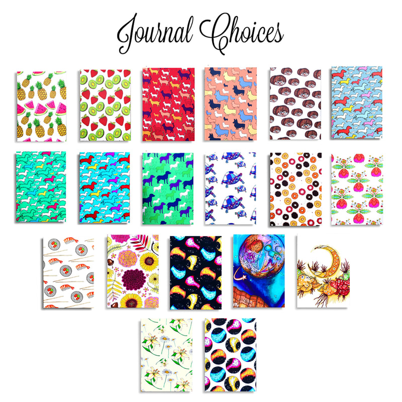 All the designs for Rachel Antonia Designs journals