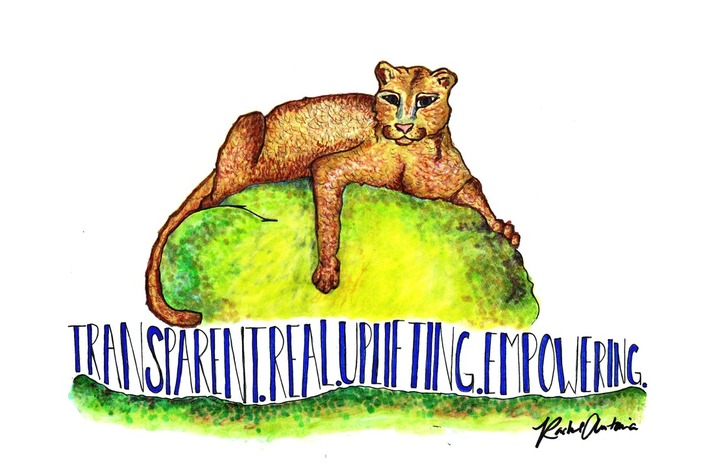 Rachel Antonia Designs commission true leader mountain lion