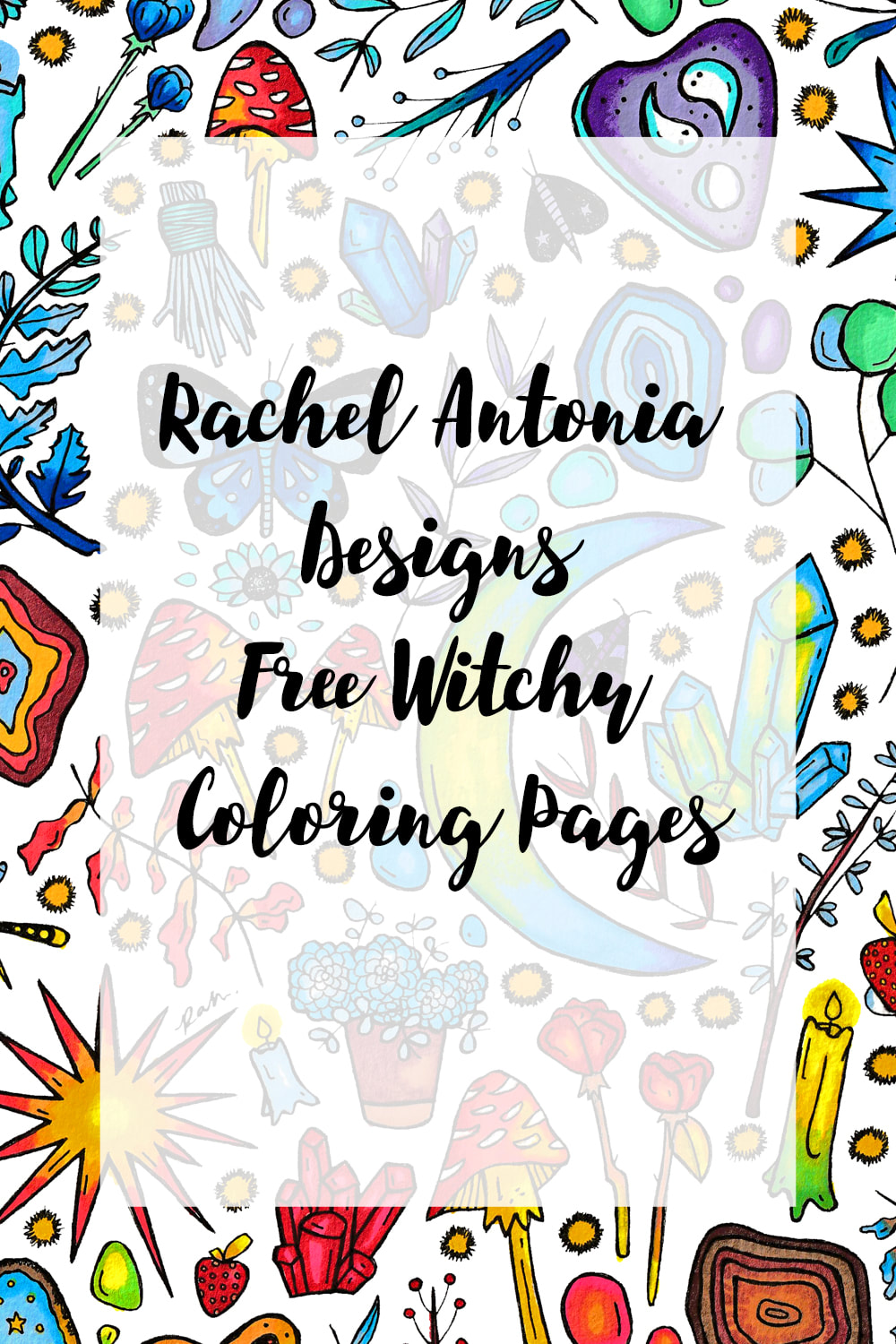 Rachel Antonia Designs Free Witchy Coloring PagesPicture